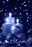 De koude avond van Kerstmis Stock Afbeeldingen