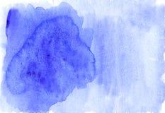 De koude blauwe achtergrond van de de winterwaterverf met ruimte voor tekst Stock Afbeelding