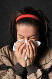 De koude griep van allergieën Royalty-vrije Stock Afbeelding