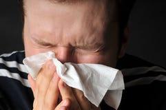 De koude griep van allergieën Royalty-vrije Stock Foto