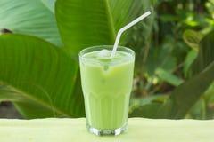 De koude groene Thee van Matcha Royalty-vrije Stock Foto's
