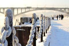 De koude sneeuwwinter in Siberië Royalty-vrije Stock Foto