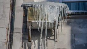 De koude Winters in Kiev, de Oekraïne royalty-vrije stock fotografie