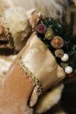 De Kous van Kerstmis Stock Foto