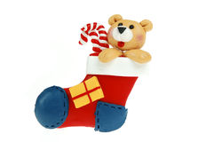 De Kous van Kerstmis Stock Foto's