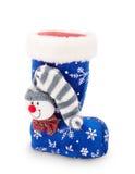 De kous van Kerstmis op witte achtergrond Royalty-vrije Stock Afbeelding