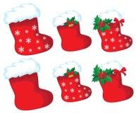 De kousreeks van Kerstmis Stock Afbeelding