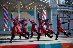De Kozakdans met sabels Rusland Stock Afbeelding
