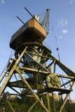 De kraan bij de haven. Royalty-vrije Stock Afbeeldingen