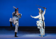 """De kraan de emmer-vijfde handeling steelt onsterfelijk-Kunqu Opera""""Madame Witte Snake† Royalty-vrije Stock Foto's"""