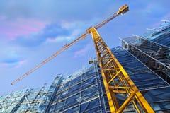 De Kraan van de bouw Stock Afbeeldingen