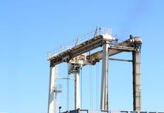 De Kraan van de brug Stock Afbeelding
