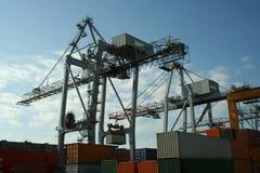 De Kraan van de container Stock Foto