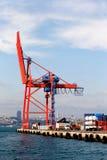 De kraan van de container Royalty-vrije Stock Afbeeldingen