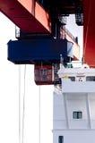 De Kraan van de container bij haven Stock Foto's