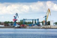 De kraan van de haven Stock Foto's
