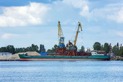 De kraan van de haven Stock Afbeeldingen