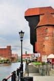 De Kraan van de haven, Gdansk Stock Afbeeldingen