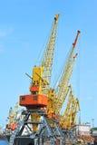 De kraan van de havenlading stock afbeelding