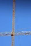 De kraan van de machinesbouw Royalty-vrije Stock Afbeeldingen