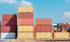 De kraan van de vrachtcontainer Royalty-vrije Stock Fotografie