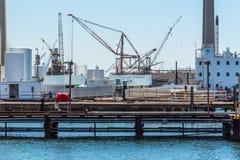 De kraan van de zeehaventoren Stock Foto