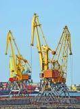 De kraan van de havenlading stock foto