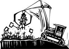 De Kraan van het protest stock illustratie