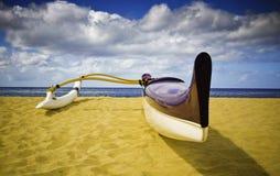 De kraanbalkkano van het Strand van Makaha Stock Afbeeldingen