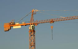De kraanclose-up van Construcion stock foto