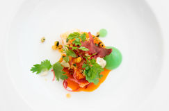 De krab van de Spaanse peper die op moderne manier wordt gekookt Royalty-vrije Stock Foto