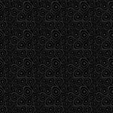 De krabbel omcirkelt zwarte naadloze achtergrond Royalty-vrije Stock Afbeelding