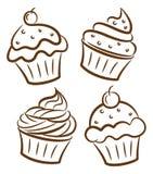 De krabbel van Cupcake Royalty-vrije Stock Afbeeldingen