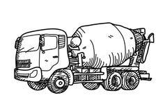 De Krabbel van de cementvrachtwagen Stock Afbeelding