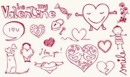 De krabbel van de liefde Stock Afbeelding