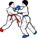 De krabbel van het karatejonge geitje Royalty-vrije Stock Foto