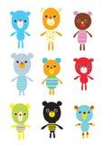De krabbelkaart van Teddy vector illustratie