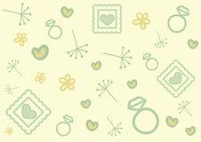 De krabbelpatroon van de valentijnskaartendag stock illustratie