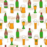 De krabbelpatroon van het bierfestival Royalty-vrije Stock Foto