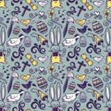 De krabbelpatroon van Pasen Stock Afbeelding