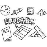 De krabbelreeks van het schoolonderwijs Stock Afbeelding