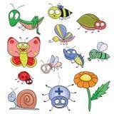 De krabbelreeks van insecten Royalty-vrije Stock Afbeeldingen