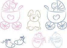 De Krabbels van de baby Stock Afbeeldingen