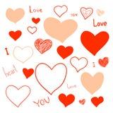 De krabbels van de liefde stock foto's