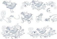 De krabbels van de liefdevogel Stock Afbeelding