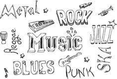 De krabbels van de muziek royalty-vrije illustratie