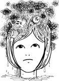 De krabbels van de schets: spanning en depressie Stock Foto's