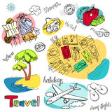 De Krabbels van de vakantie Vector Illustratie