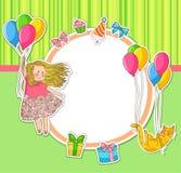 De krabbels van de verjaardag Stock Afbeeldingen