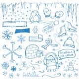 De Krabbels van de winter stock illustratie